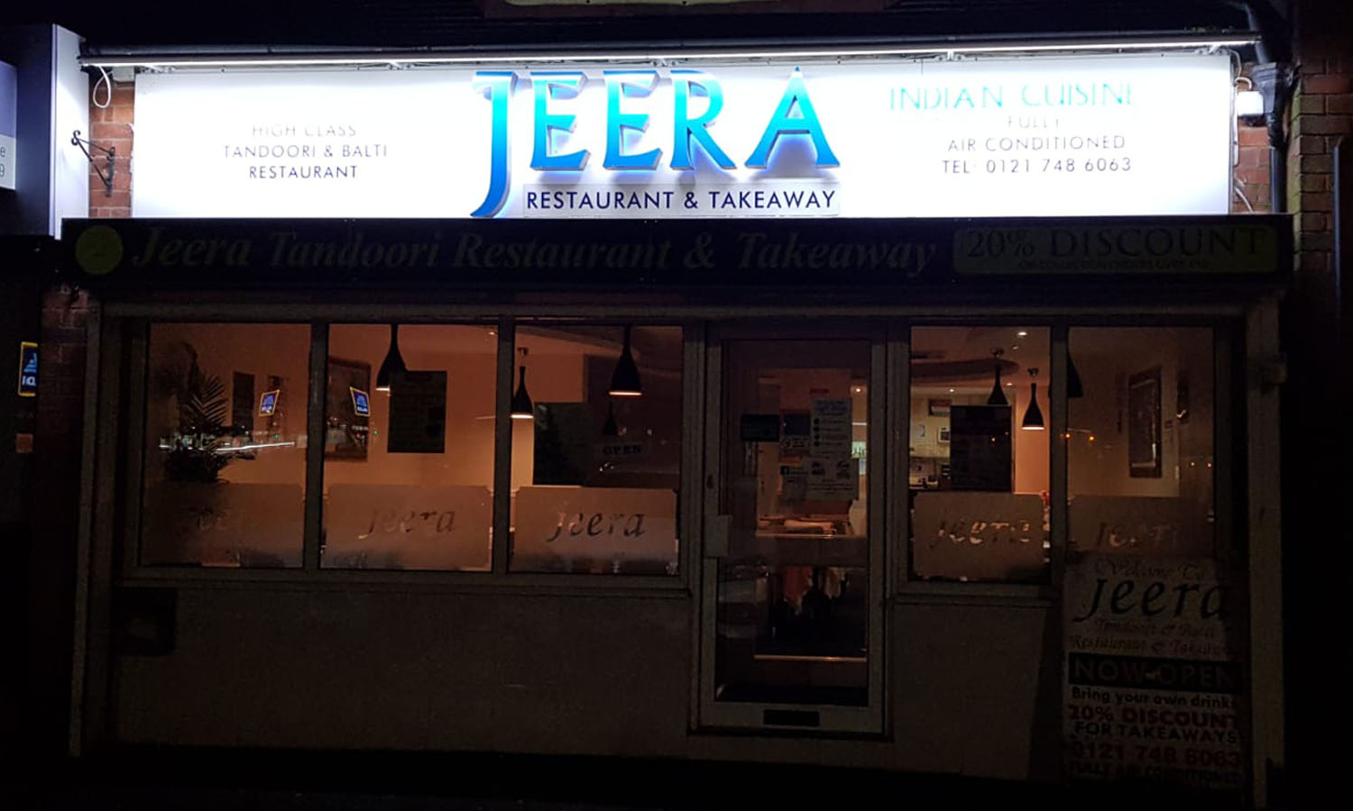 Jeera indian takeaway & Restaurant in Birmingham